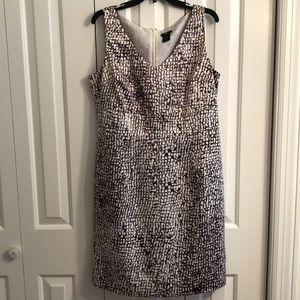 Ann Taylor size 14P brown and cream print dress